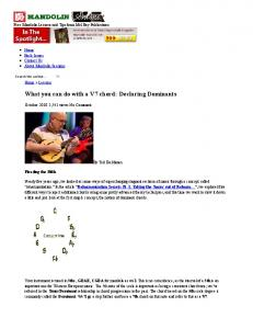 What you can do with a V7 chord: Declaring ... - JazzMando.com