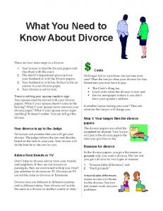 What You Need to Know About Divorce