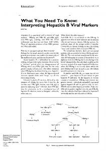 What You Need To Know: Interpreting Hepatitis B ...