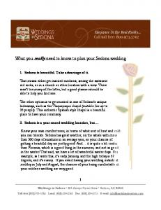 What you really need to know to plan your Sedona wedding