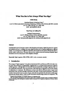 What You See is Not Always What You Sign - Semantic Scholar