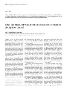 What You Set Is Not What You See: Unconscious ... - Semantic Scholar