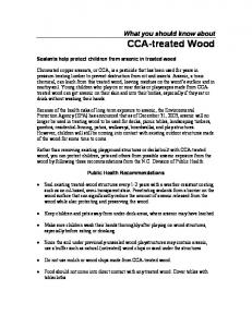 What you should know about CCA-treated Wood