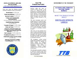 What You Should Know About Distilled Spirits Labels - TTB.gov