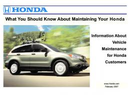 What You Should Know About Maintaining Your Honda