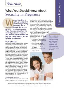 What you should know about sex in pregnancy