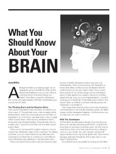 What You Should Know About Your Brain - ASCD