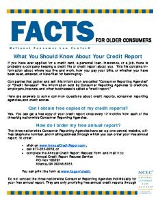 What You Should Know About Your Credit Report