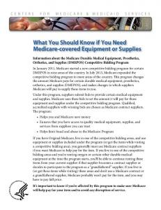 What You Should Know if You Need Medicare ... - Medicare.gov