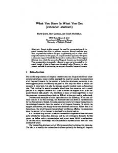 What You Store Is What You Get (extended abstract) - Semantic Scholar
