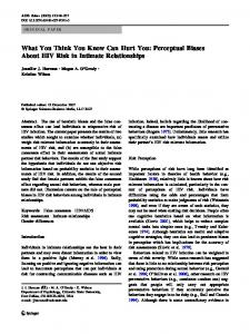 What You Think You Know Can Hurt You: Perceptual ... - Springer Link