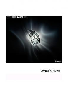 whats new in Maya 2013
