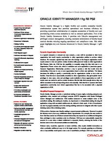 Oracle Identity Management 11g Whitepaper - MAFIADOC COM
