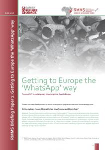 WhatsApp - Mixed Migration Centre