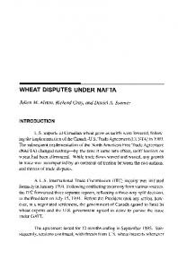 WHEAT DISPUTES UNDER NAFTA - AgEcon Search