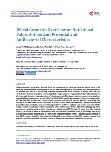 Wheat Germ - Scientific Research Publishing