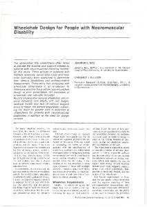 Wheelchair Design for People with Neuromuscular Disability