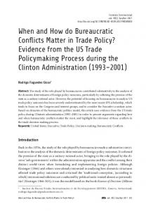 When and How do Bureaucratic Conflicts Matter in Trade ... - SciELO