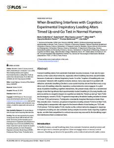 When Breathing Interferes with Cognition