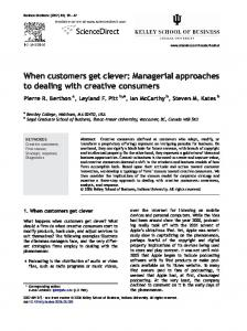 When customers get clever: Managerial ... - Semantic Scholar