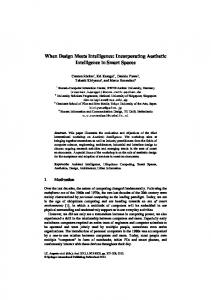 When Design Meets Intelligence - Communication Science RWTH ...