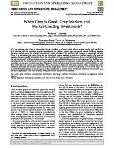 When Gray is Good: Gray Markets and Market-Creating Investments ...
