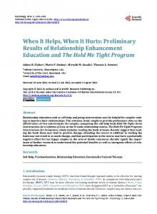 When It Helps, When It Hurts: Preliminary Results of ...