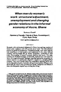When men do women's work : structural adjustment, unemployment ...