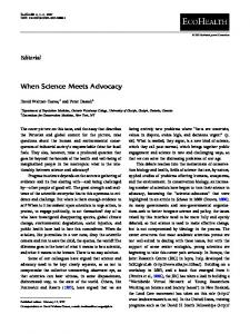 When Science Meets Advocacy - EcoHealth