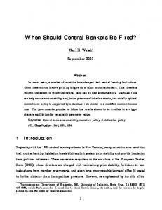 When Should Central Bankers Be Fired? - CiteSeerX