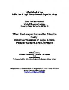 When the Lawyer Knows the Client is Guilty - SSRN papers