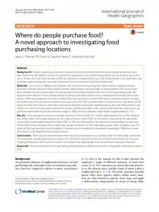 Where do people purchase food? A novel approach to investigating ...