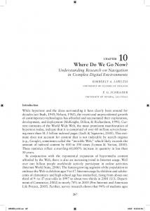 Where Do We Go Now? - Semantic Scholar