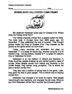 WHERE DOES HALLOWEEN COME FROM?