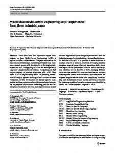 Where does model-driven engineering help ... - Springer Link