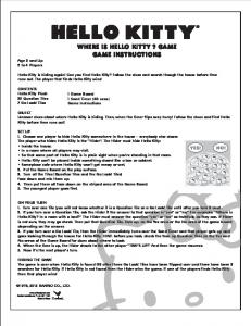 WHERE IS HELLO KITTY ? GAME GAME INSTRUCTIONS