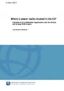 Where is power really situated in the EU? - Fridtjof Nansen Institute