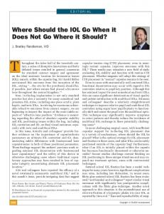 Where Should the IOL Go When it Does Not Go