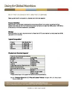 WHEY PROTEIN CONCENTRATE 80% PROTEIN (WPC80)