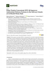 Whey Protein Concentrate WPC-80 Improves Antioxidant ... - MDPI