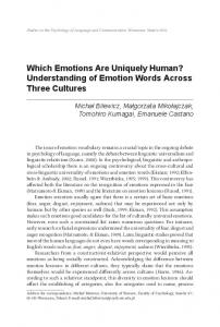 Which Emotions Are Uniquely Human