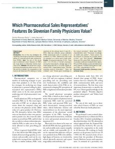 Which Pharmaceutical Sales Representatives ...