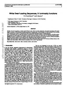 White Dwarf cooling Sequences, II: luminosity functions