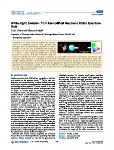 White-Light Emission from Unmodified Graphene Oxide Quantum Dots