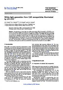 White light generation from CdS nanoparticles illuminated by UV-LED