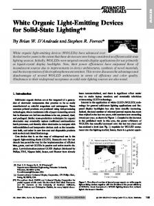 White Organic Light-Emitting Devices for Solid-State Lighting