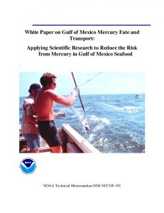 White Paper on Gulf of Mexico Mercury Fate and Transport: Applying ...