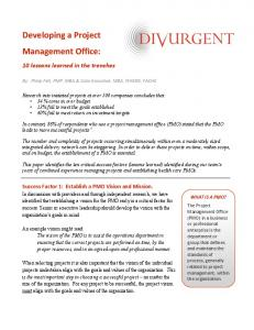 White Paper.Developing a Project Management Office - Divurgent