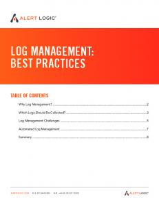 Whitepaper Log Management Best Practices