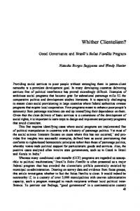 Whither Clientelism? - UT College of Liberal Arts